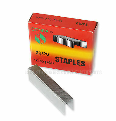 2x Heavy Duty (23/20) Good Quality Staples 1000 Count per box for Office Home