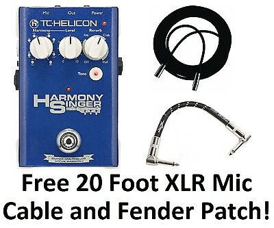 New TC-Helicon Harmony Singer Live Harmonizer Vocal Processor Effects Pedal!