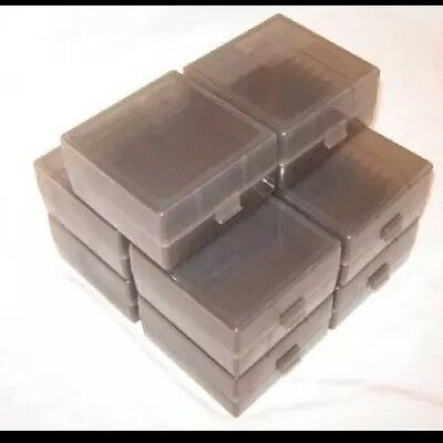 BERRY'S AMMO BOX CASES 1 SMOKE GREY 22LR 45 ACP 10MM 100 rd 008 BUY 9 GET 1 FREE