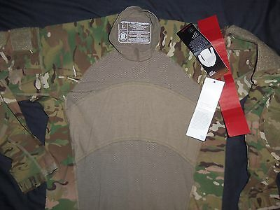 MASSIF GEAR MULTICAM SHIRT COMBAT ACU CAMO LARGE NEW TAG MADE USA MILITARY ISSUE