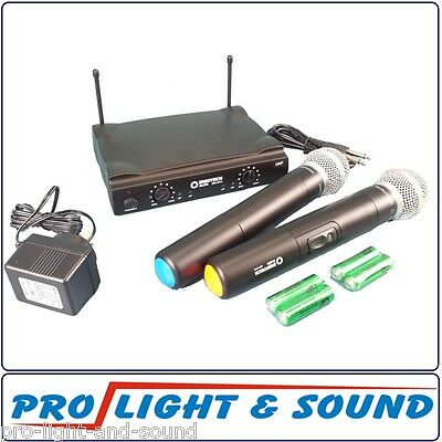 Wireless Microphone System Handheld 520-526mHz + 2nd Mic.