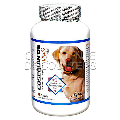 Nutramax COSEQUIN DS PLUS MSM For Dogs Double Strength 132 Chewable Tablets