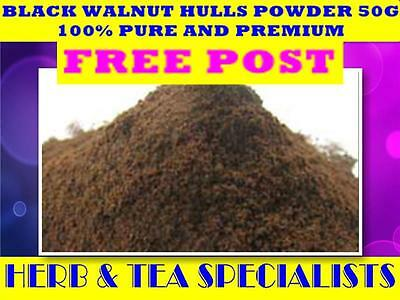 BLACK WALNUT HULLS POWDER 50G (PURE)☆Juglans nigra☆ PREMIUM STOCK☆ FREE POST