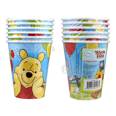 AUTHENTIC Disney Winnie The Pooh Honey Birthday Party Supplies 6x Paper Cups