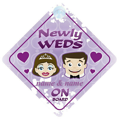 Newly Weds On Board Car Sign - Wedding Gift