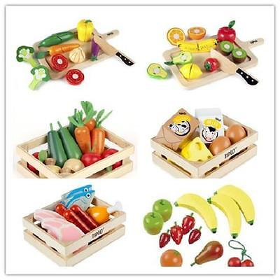 John Crane New Educational Pre-School Toys Wooden Fruits Vegetables In a Crate