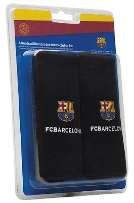 Official FCB Barcelona Child Car Black Padded Safety Harness Seat Belt Pads #313