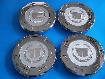 "4 NEW GM CADILLAC ESCALADE WHEEL CENTER HUB CAPS 2007-2012 CHROME, 22"" , 9596649"