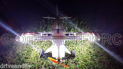 2 LED Lights System for Beaver Foamy RC Airplane Light Kit Only Night Flying