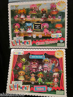 LOT OF 16 MINI LALALOOPSY DOLLS + PETS TOYS R US EXCLUSIVE TALES & CLASS PICTURE