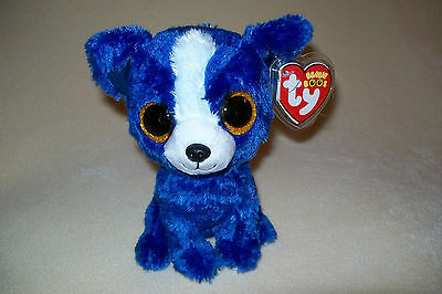 "TY MWMT T-BONE THE BLUE CHIHUAHUA BEANIE BOO- 6"" BEANIE BOOS- TOY SHOW EXCLUSIVE"