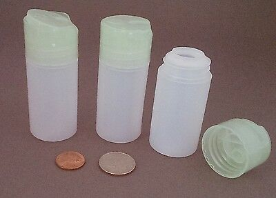 5 Small Plastic HDPE Dispensing Bottles ~ BPA-free 1.5oz 45ml travel size in USA