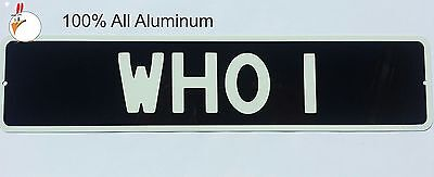 Doctor Who - BESSIE- WHO 1  -  ALUMINUM License Plate Replica - TARDIS  Dr. Who