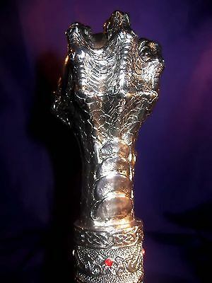GTH087 Walking Cane/Swagger Stick Dragon Claw & Celtic Knotwork Ball Top