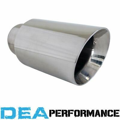 Dea Stainless Steel- Double Walled Angle Cut Exhaust Tip 3'' Inlet