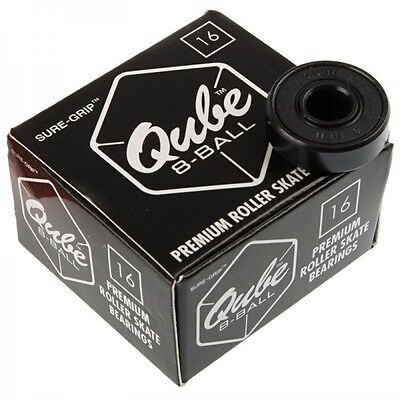 QUBE 8-Ball Skate Bearings 8mm (Set of 16) Skateboards, Scooter & Roller Skates