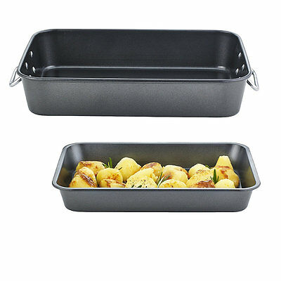 Tefal Non-Stick Roaster Set (1 Large & 1 Small Roasting Pans with Handles)