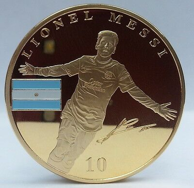 Lionel Messi / Barcelona Gold Coin Signed Argentina Star World Player Number 10