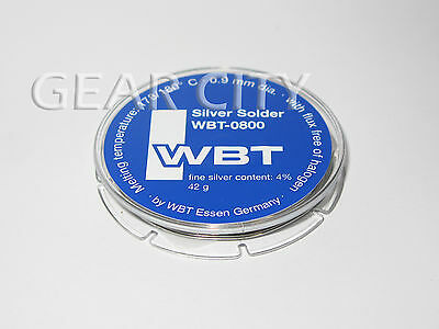 wb09 10m 32.8ft WBT-0800 0.9mm 4% Silver Solder Lead Roll Pack Halogen Free HiFi