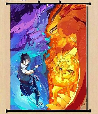 Naruto Itachi Uzumaki Sasuke Wall poster Scroll Home Decor Japanese 07