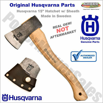 "576926401 Husqvarna 15"" Hatchet w/ Sheath Made in Sweden, Hand Forged 2.21Lbs"