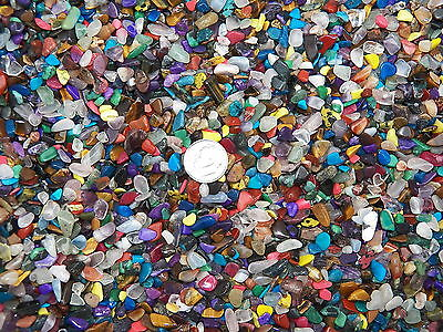 1000 Carat Lots of Size #1 Tumbled Polished Gemstones + A FREE Faceted Gemstone