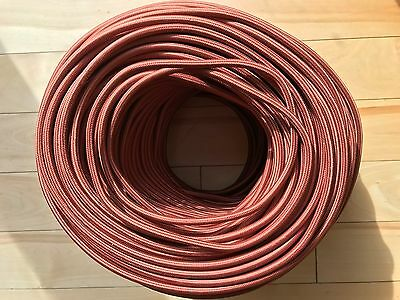 Reddish Brown 2-Wire Rayon Cloth Covered Cord, 18ga,Vintage Antique Lamps Lights