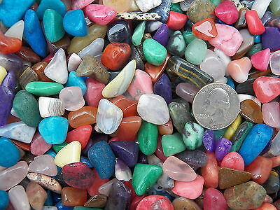 2000 Carat Lots of Size #3 Tumbled Polished Gemstones + A FREE Faceted Gemstone