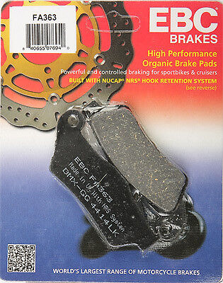 EBC Organic Brake Pads Single Set For BMW R/K 850/1100/1150/FA363 610363 Rear