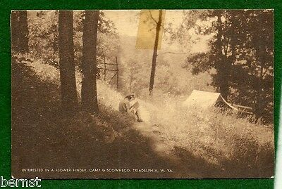 Vintage Girl Scout - 1948 Postcard - Camp Giscowhtco, W Va - Free Shippiing