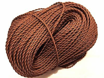 Brown Gold Twisted 2-wire Cotton Covered Cord ,18ga,Vintage style Lamps Lights