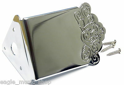 Chrome Engraved Mandolin Tailpiece by Leader