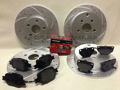Toyota celica 1.8 vvti + t sport 140 190 front rear grooved brake discs and pads