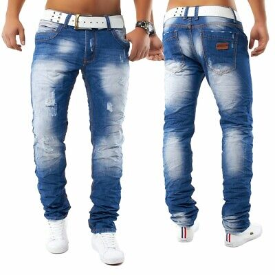 bce1ef983bcf9b Herren Denim Jeans Hose Designer Authentic Clubwear Destroyed Kazanan