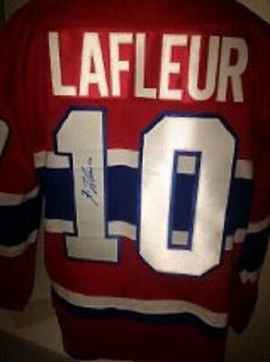 XL (52) Autographed / Signed Guy Lafleur Hockey Jersey Montreal Canadiens