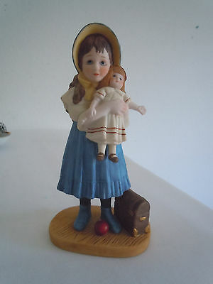 Vintage Jan Hagara Figurine Lisa & the Jumeau Doll #10748 LE  Free Shipping