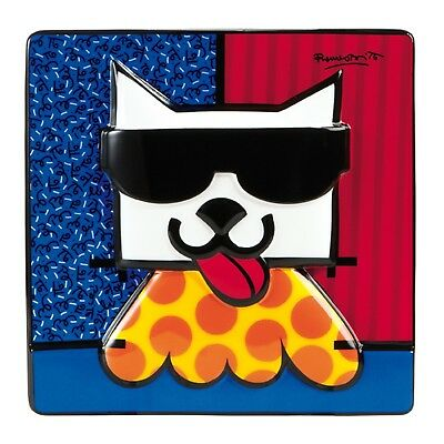 "ROMERO BRITTO - POP ART KUNST aus Miami - ""LA CAT"" - prächtiges Reliefbild 3D"