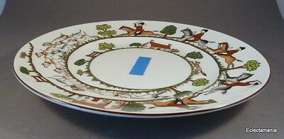 """Crown Staffordshire HUNTING SCENE - 8 3/8"""" Plate"""