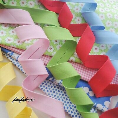 "Bias Binding Extra Wide 2½""  Plain Moda Bella Solids Handmade Quilt Craft ~ 30mm"