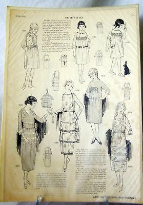 1919 Antique Art Deco Fashion Elite Styles Magazine AD For Girls & Young Ladies
