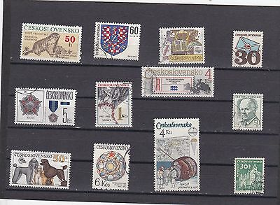 CZECHOSLOVAKIA COLLECTION All DIFFERENT USED  3016
