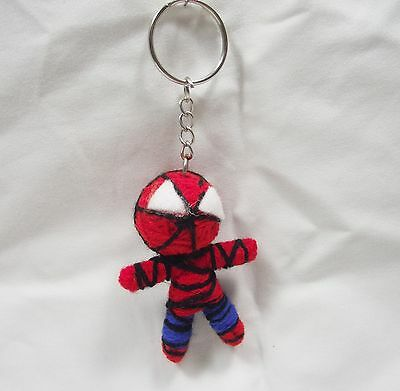 Spider-Man Doll Keychain Cool Handmade Free shiping