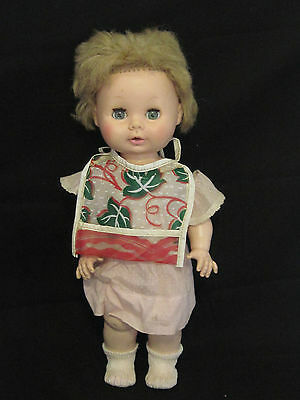 """Vintage Antique 13"""" Rubber Sleepy Eye Girl Doll Toy by EEGEE"""