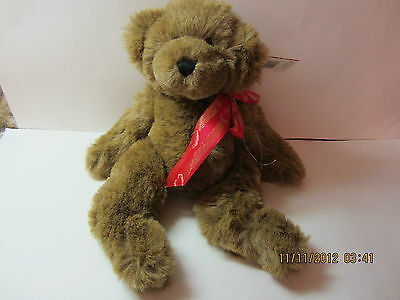 """Vintage Mary Meyer String Jointed Teddy Bear-""""Allister""""-1995-New With Tags"""