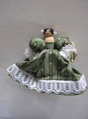 Peg Doll handmade with Colonial Dress holding Saxophone Xmas ornament