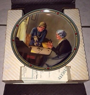 Set Of 5 Knowles China Company Decoratove Plates By Norman Rockwell Box And CoA