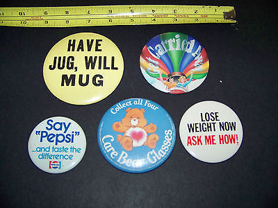 Pizza Hut Promotional Buttons  Vintage 1980's   Mixed Lot #1