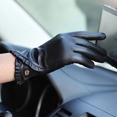 Womens Genuine Nappa Leather Classic Touch Screen Function Gloves On Sale #0011
