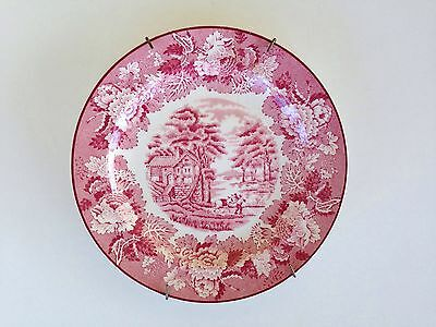 WOOD AND SONS - ENOCH WOODS - China Plate - England - Wall Hanger Included