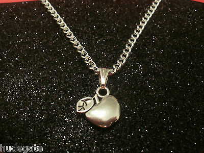 10 Silver Plated Necklaces with Apple Pendants Wholesale Jewellery Job Lot